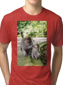 Monkey Hair Salon Tri-blend T-Shirt