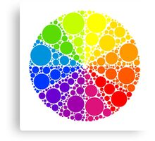 Color wheel palette or color circle isolated. The physical representation of color transitions and HSB. Canvas Print