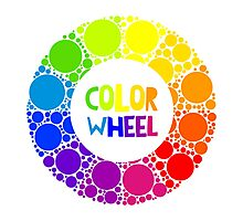Color wheel palett or color circle isolated.  Photographic Print