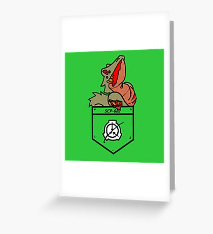 Hard to Destroy Reptile Greeting Card