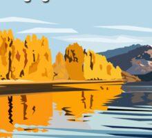 Lake Wanaka, in Autumn. by Ira Mitchell-Kirk Sticker