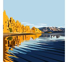 Lake Wanaka, in Autumn. by Ira Mitchell-Kirk Photographic Print