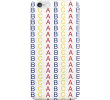 Primary Color ABC Pattern iPhone Case/Skin