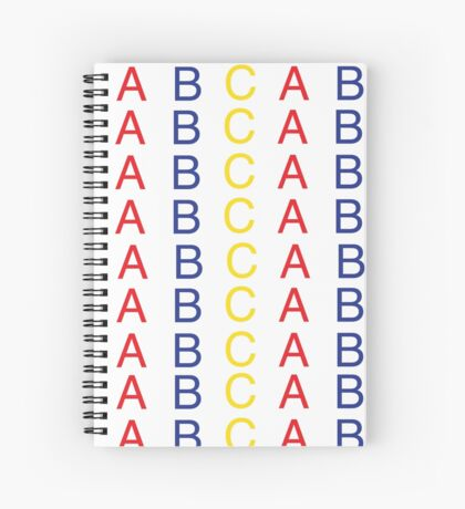 Primary Color ABC Pattern Spiral Notebook