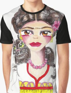 Frida and her cat Graphic T-Shirt