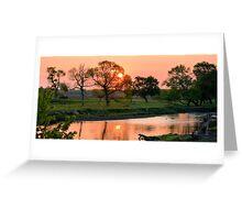Hartgrave Creek Panorama Greeting Card