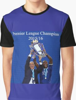 Leicester City Premier League Champions Graphic T-Shirt