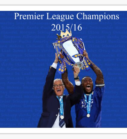 Leicester City Premier League Champions Sticker