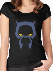 Animated Cat-lover Superhero (Negative) Women's Fitted Scoop T-Shirt