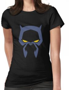 Animated Cat-lover Superhero (Negative) Womens Fitted T-Shirt