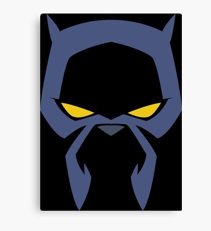Animated Cat-lover Superhero (Negative) Canvas Print