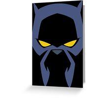 Animated Cat-lover Superhero (Negative) Greeting Card