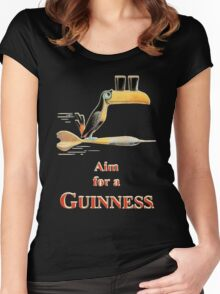GUINNESS AIM FOR A GUINNESS VINTAGE ART Women's Fitted Scoop T-Shirt