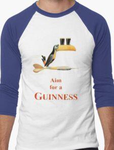 GUINNESS AIM FOR A GUINNESS VINTAGE ART Men's Baseball ¾ T-Shirt