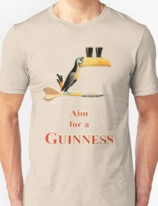 GUINNESS AIM FOR A GUINNESS VINTAGE ART Unisex T-Shirt