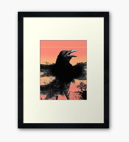 raven blazen Framed Print