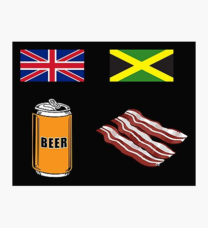 """English """"Beer-Can"""" = Jamaican """"Bacon"""" Photographic Print"""