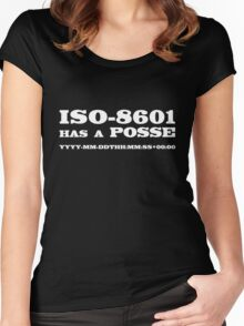 ISO-8601 has a Posse Women's Fitted Scoop T-Shirt