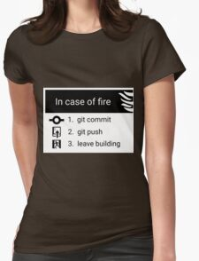In case of fire Womens Fitted T-Shirt