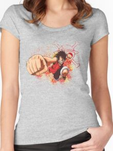 Luffy - One Piece Women's Fitted Scoop T-Shirt