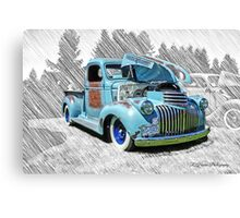 Cool Old Pickup Truck Canvas Print