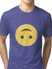 Smile emoji - upside down Tri-blend T-Shirt
