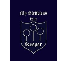 My Girlfriend is a Keeper - Ravenclaw Photographic Print