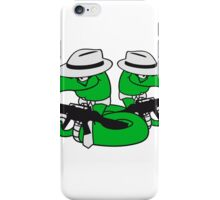 2 gangster team buddies crew mafia violence weapon machine gun rattlesnake poisonous evil dangerous comic cartoon snake iPhone Case/Skin