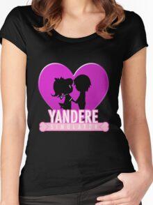 Yandere Simulator - Yandere Love Print Women's Fitted Scoop T-Shirt