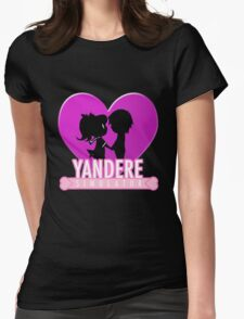 Yandere Simulator - Yandere Love Print Womens Fitted T-Shirt