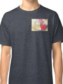 Serenity Prayer Peonies and Roses Classic T-Shirt