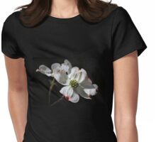 White Dogwood Womens Fitted T-Shirt