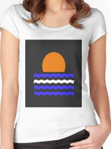 Simple Sunset Women's Fitted Scoop T-Shirt