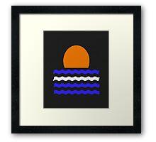 Simple Sunset Framed Print