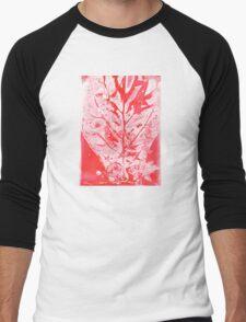 Red Fiddle Leaf Fig Bouquet Men's Baseball ¾ T-Shirt