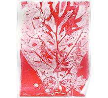 Red Fiddle Leaf Fig Bouquet Poster