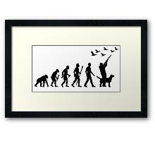 Duck Hunting Evolution Of Man Framed Print