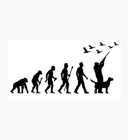 Duck Hunting Evolution Of Man Photographic Print