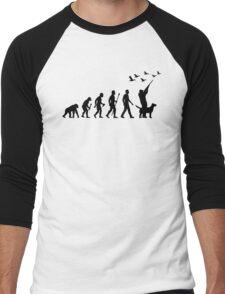 Duck Hunting Evolution Of Man Men's Baseball ¾ T-Shirt