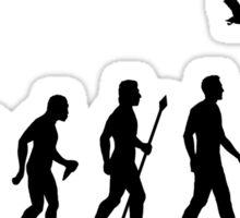 Duck Hunting Evolution Of Man Sticker