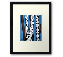 Acrylic Birch Trees Framed Print