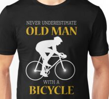 Old man with bicycle Unisex T-Shirt
