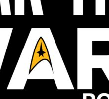 Star Trek Wars Logo w/ Background Sticker