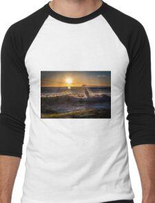 Spring Sunset at Windansea Beach Men's Baseball ¾ T-Shirt