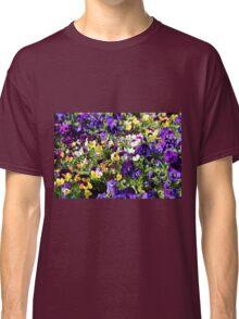 Cheerful Pansies Classic T-Shirt
