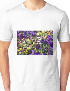 Cheerful Pansies Unisex T-Shirt