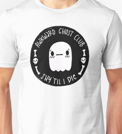 Awkward Ghost Club Black Unisex T-Shirt