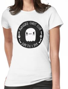 Awkward Ghost Club Black Womens Fitted T-Shirt