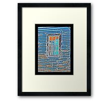 WWII Window Panes Framed Print