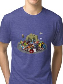 Indie Game Collage Tri-blend T-Shirt